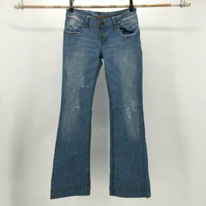 Hydraulic Boot Cut Jeans Denim Low Rise Fly Button